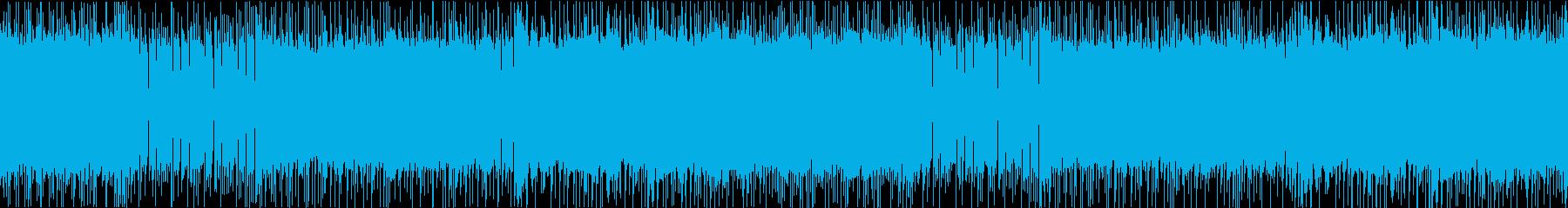 激しく攻撃的なヘヴィメタルループの再生済みの波形
