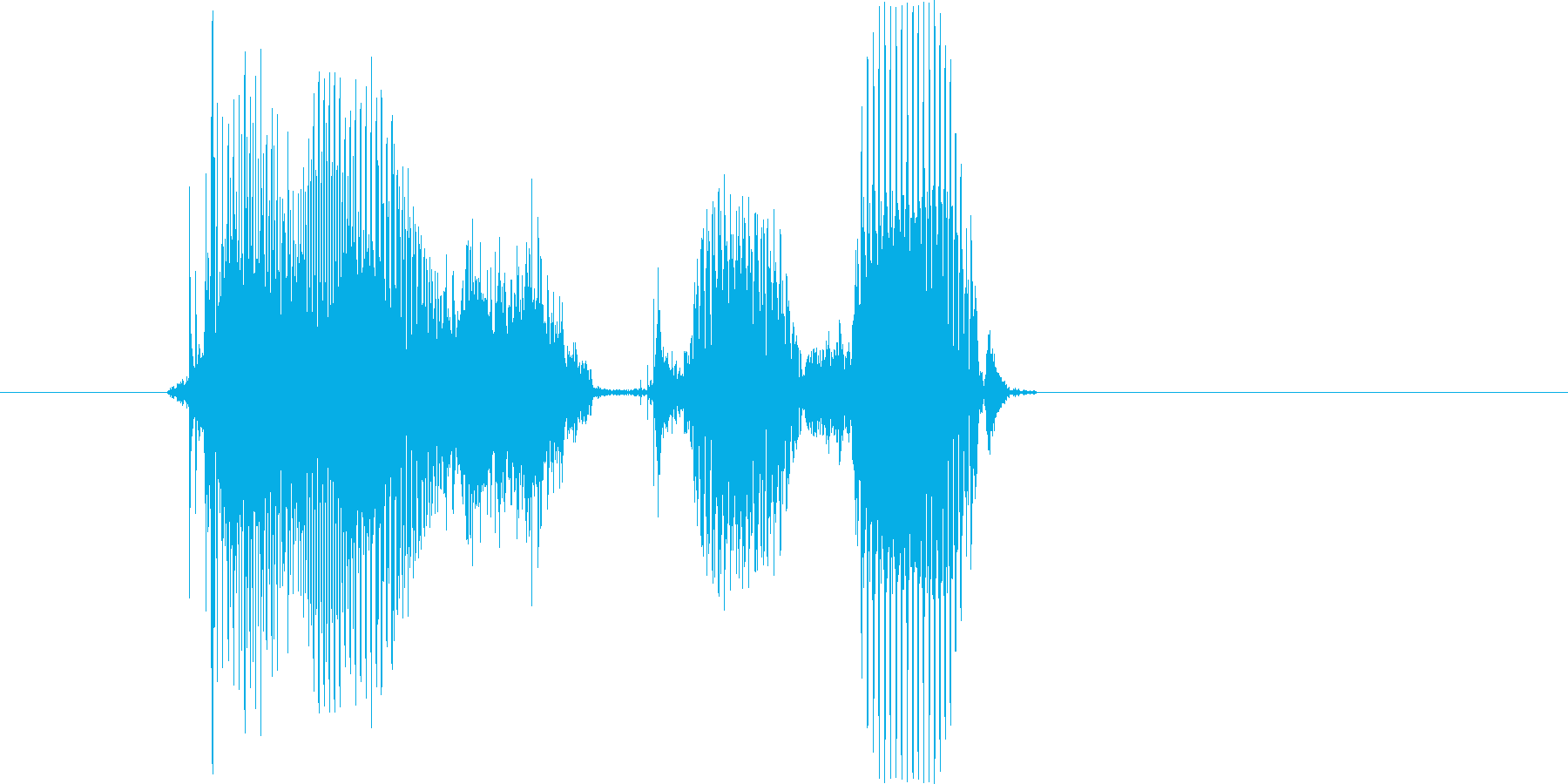 「愛してる」の再生済みの波形