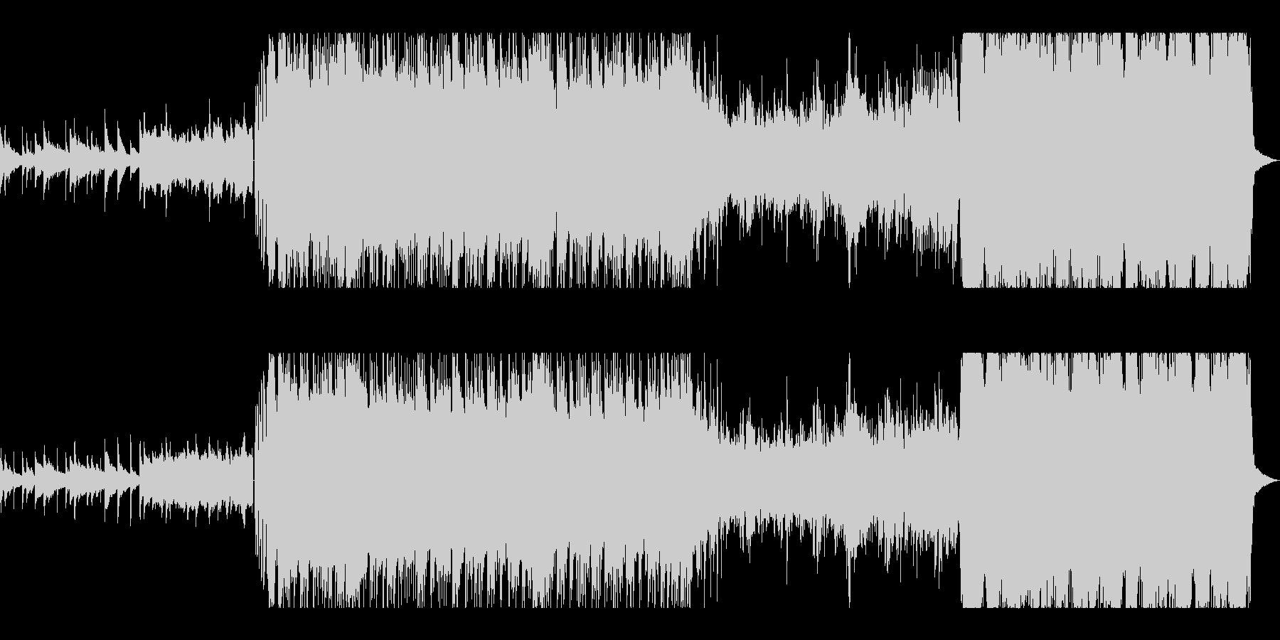 ギターリフが重厚で激しいMETALの未再生の波形