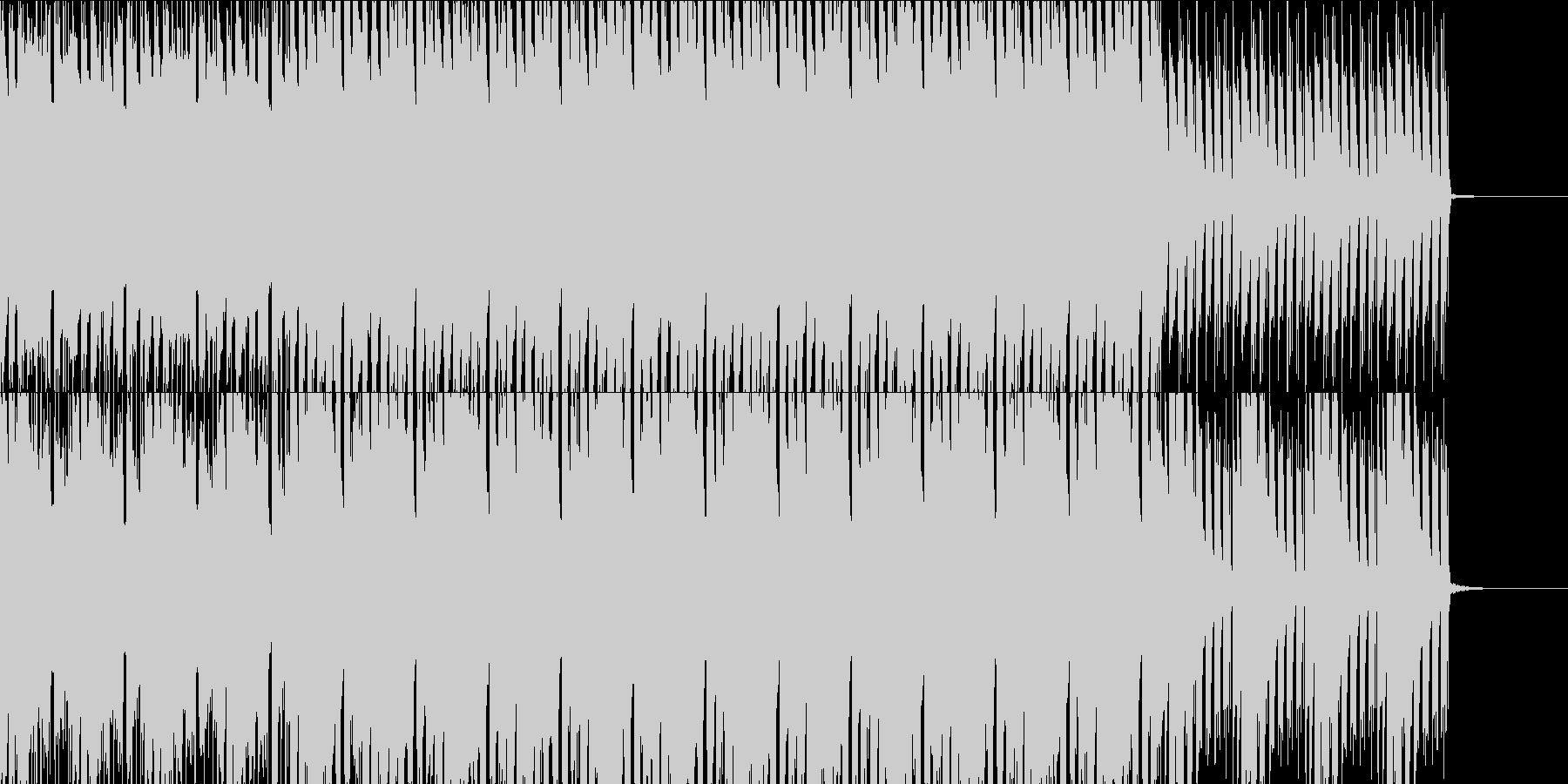 楽しげなオープニングタイトル風BGMの未再生の波形