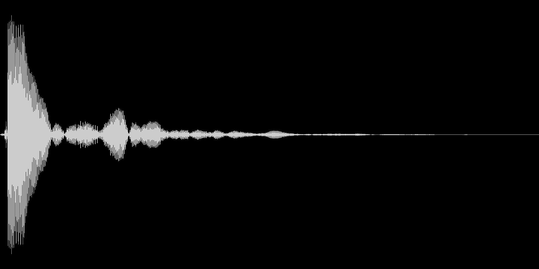 ポンッ。蓋・コルク・栓を開ける音(低め)の未再生の波形