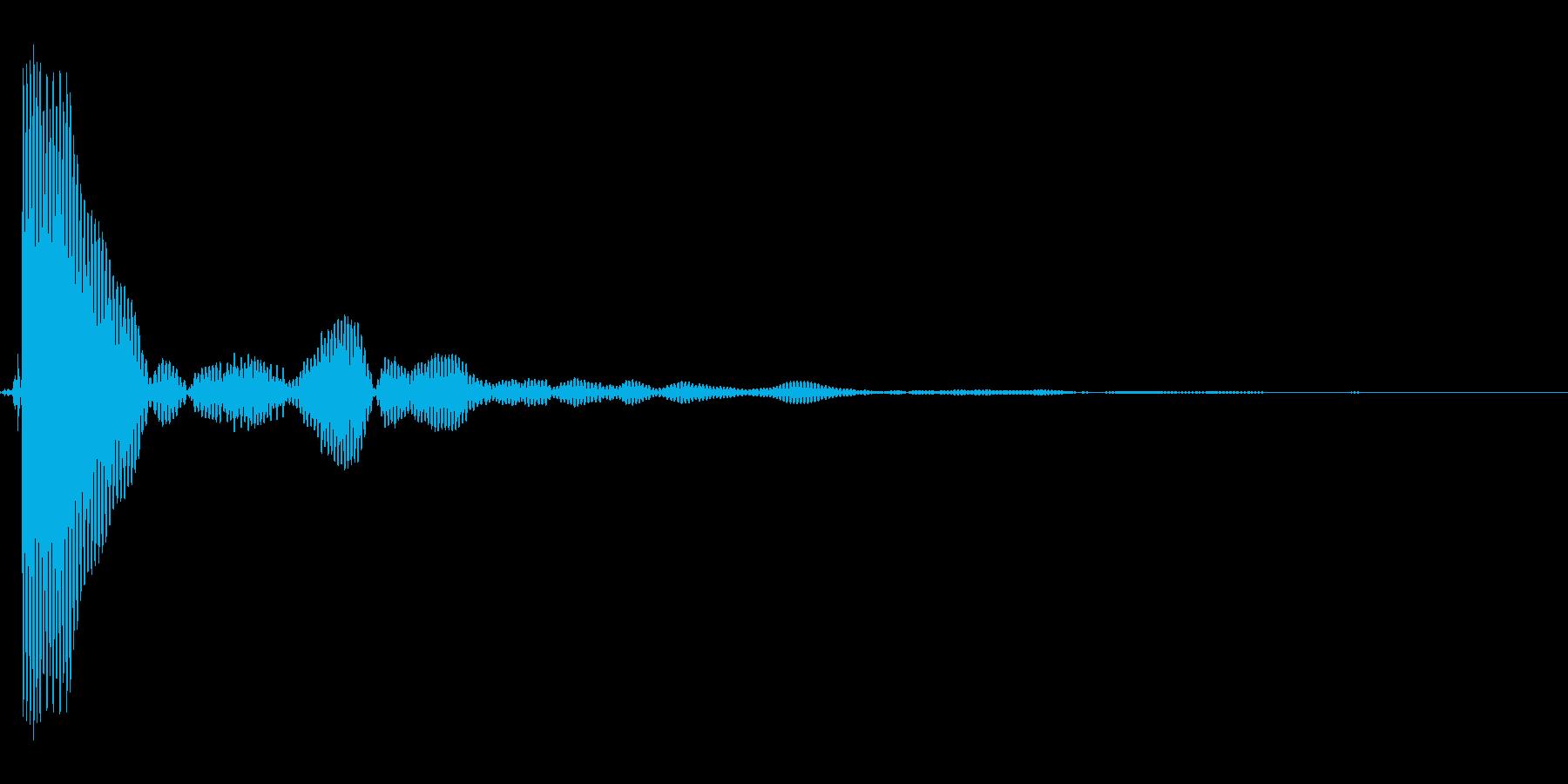 ポンッ。蓋・コルク・栓を開ける音(低め)の再生済みの波形