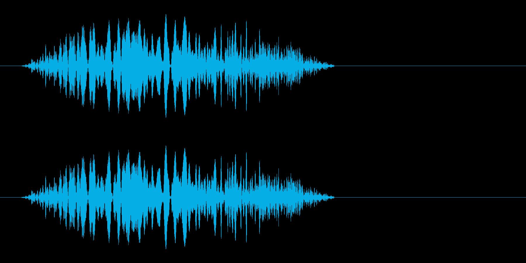 シュッ(簡潔でスピード感のある効果音)の再生済みの波形