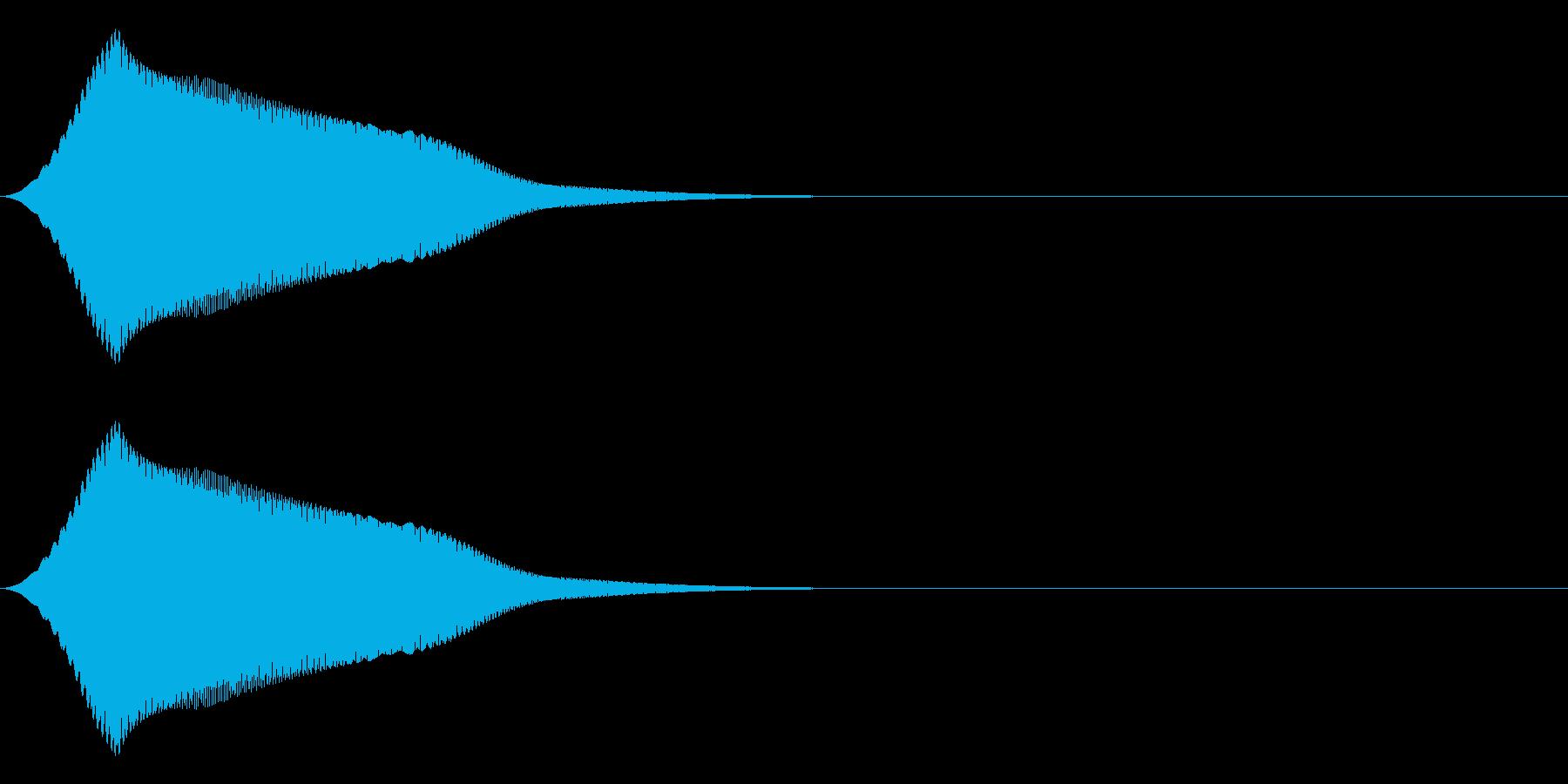 ゆっくりとしたジャンプのSEの再生済みの波形