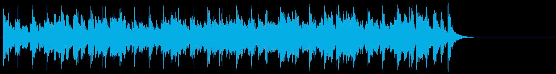 ほのぼのしたポップジャズ(Aメロ~サビ)の再生済みの波形