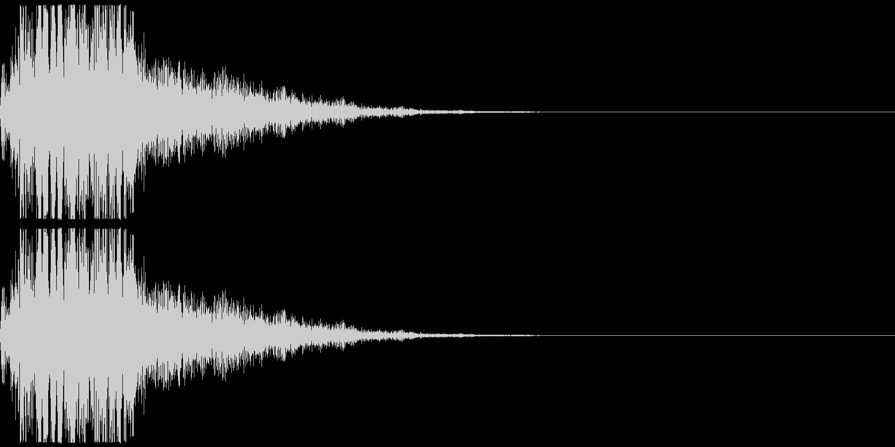電子音です。擬音、非現実的な音といった…の未再生の波形