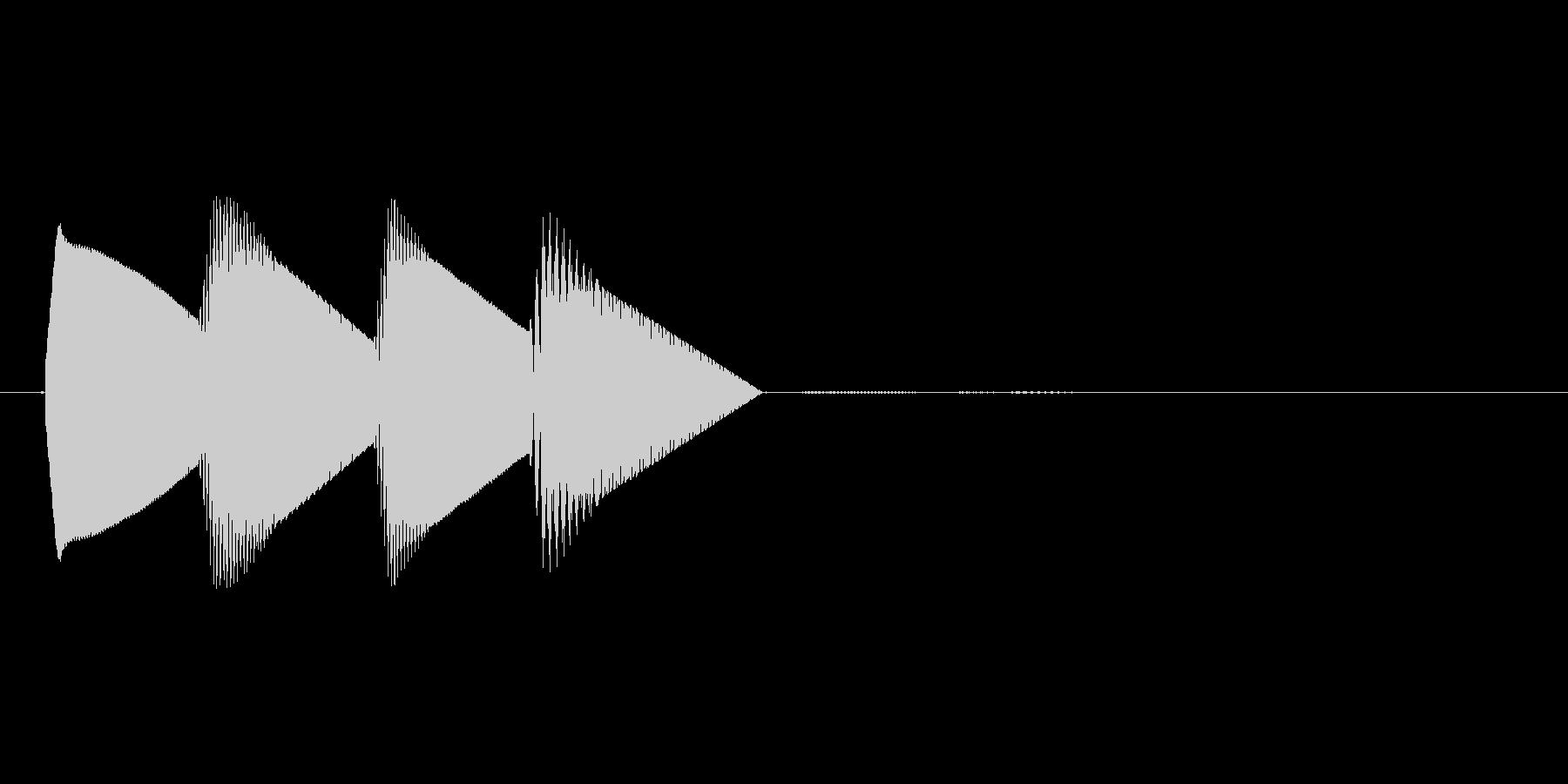 8bitのシステム音ピロロロン↓高音の未再生の波形