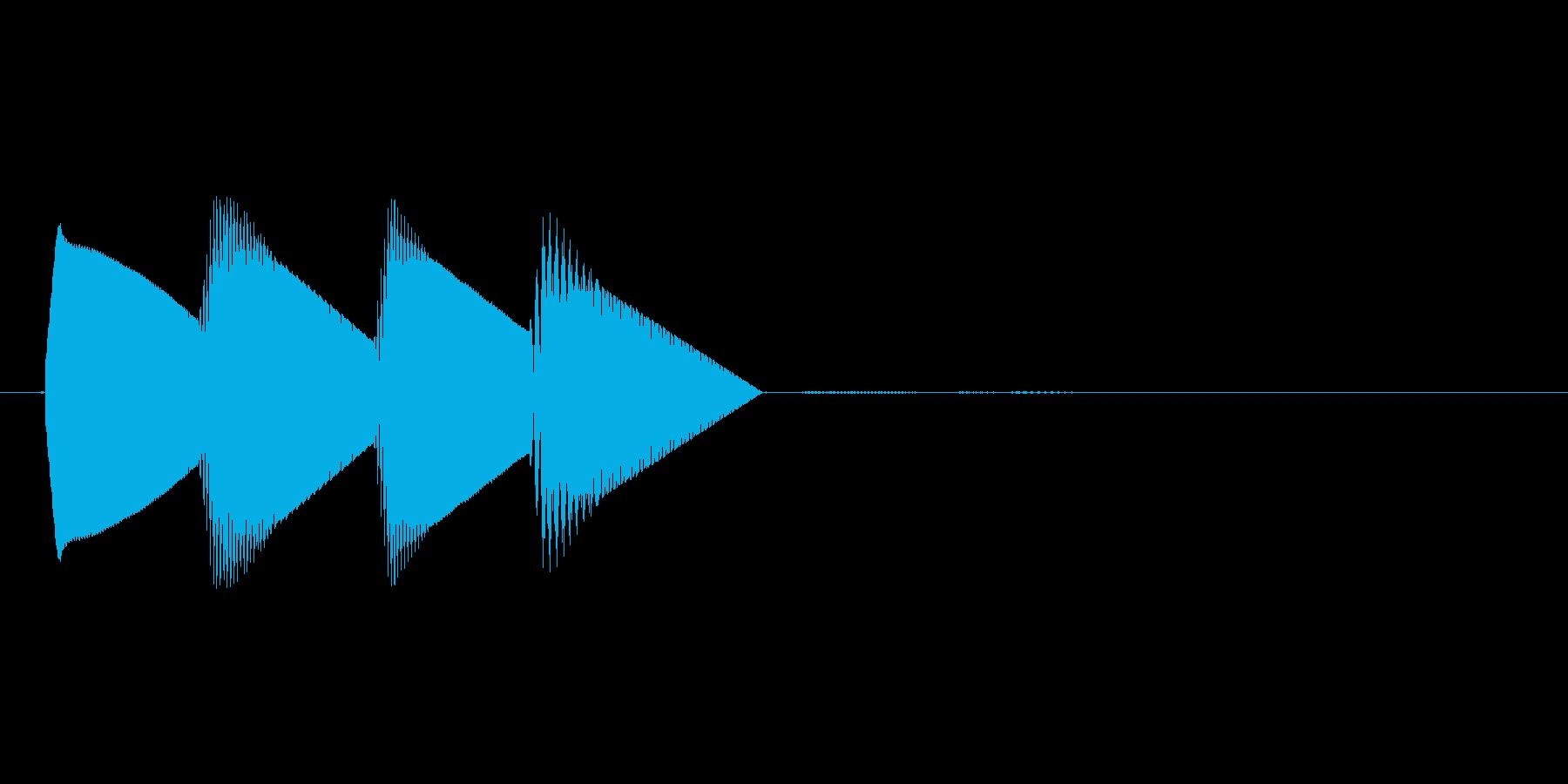 8bitのシステム音ピロロロン↓高音の再生済みの波形