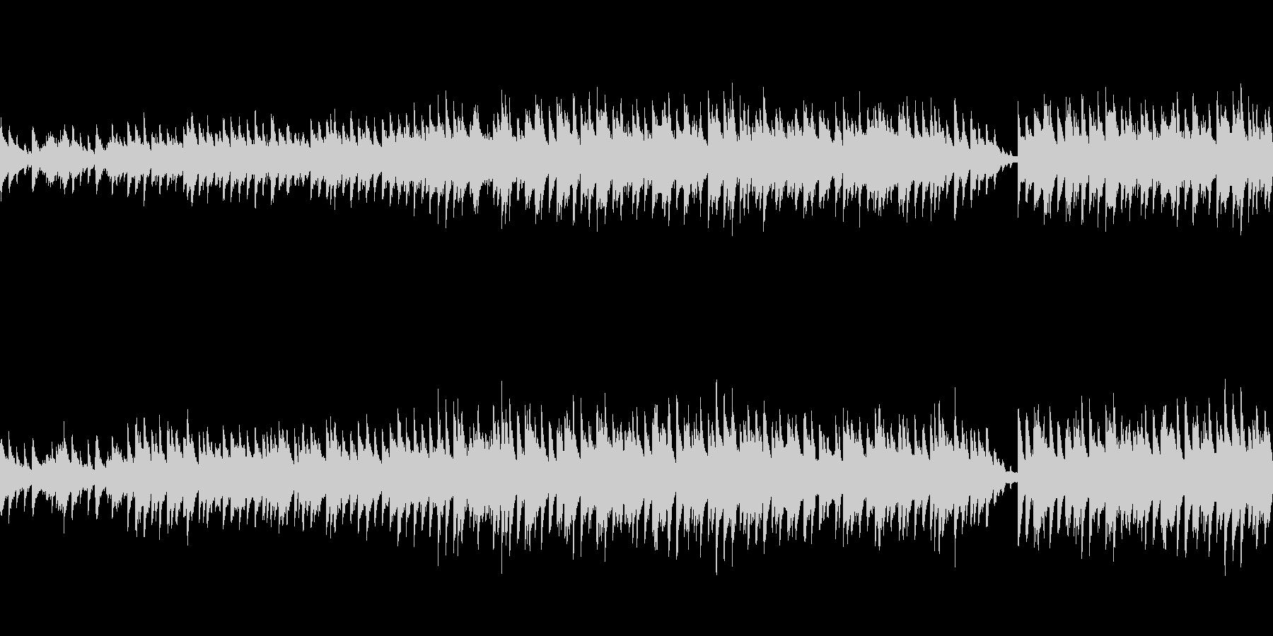 穏やかなピアノ曲3/ループ仕様の未再生の波形