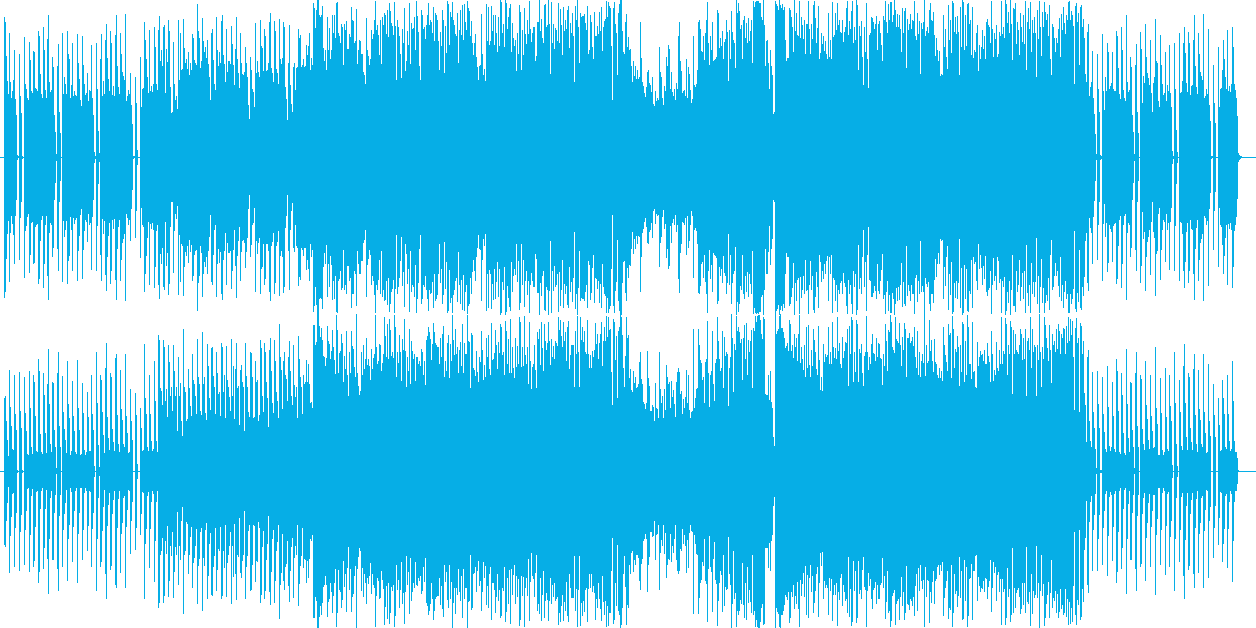 爽やかな四つ打ちギターポップの再生済みの波形