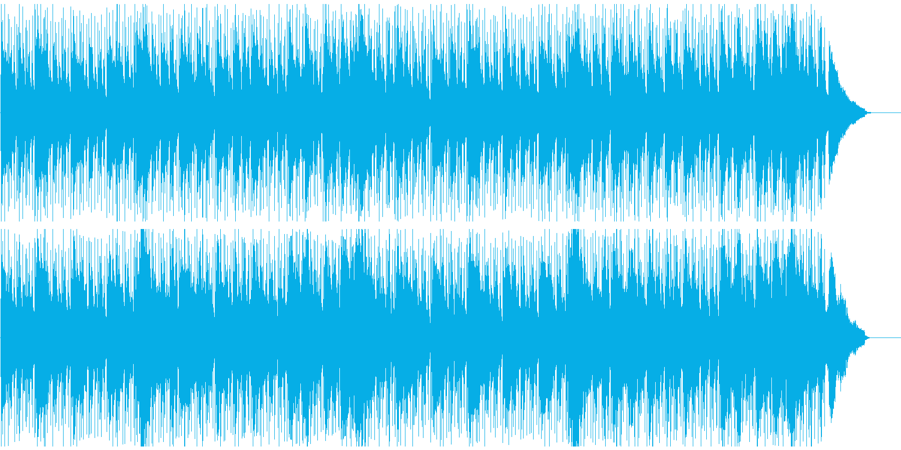 チルアウト系BGM(シンプル)の再生済みの波形