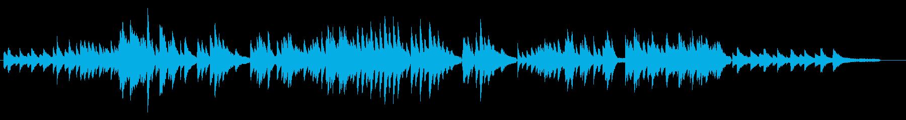 ゆったりとした眠気を誘うピアノの再生済みの波形
