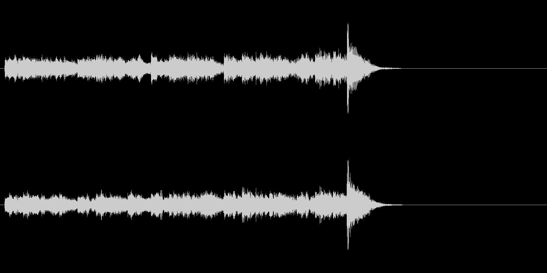 軽快なフュージョン(イントロ)の未再生の波形