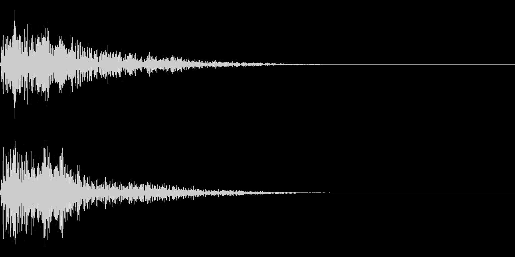 ニュースの効果音 スマートな音 の未再生の波形