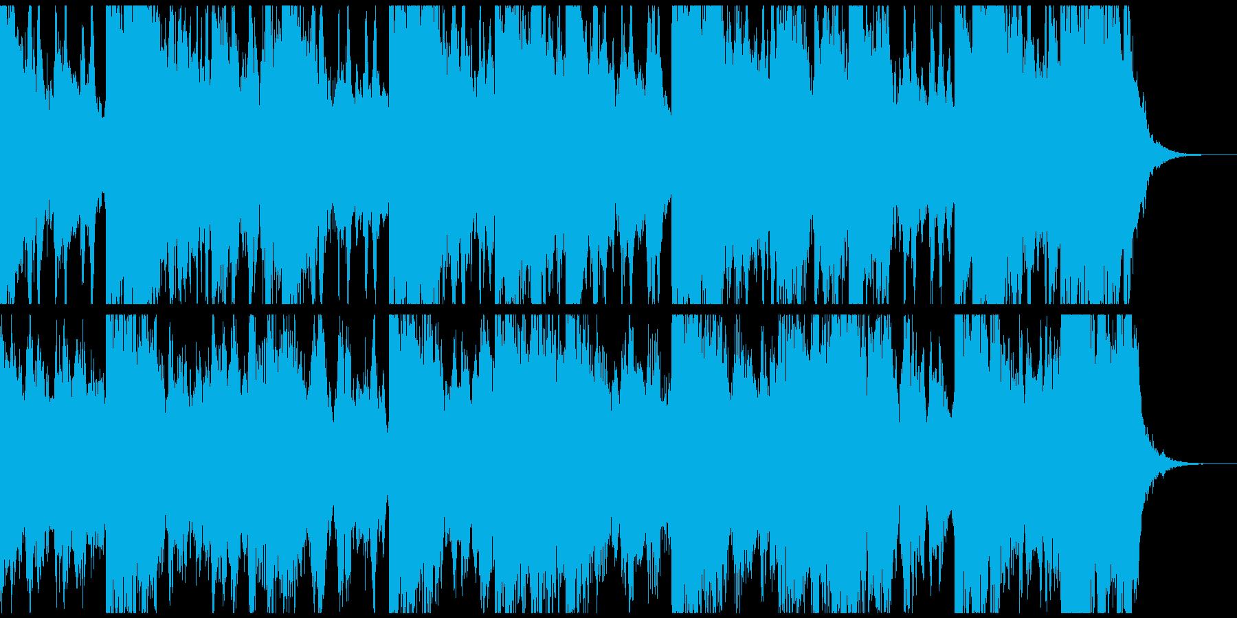 ストリングス、ピアノ、ボイスからなる曲の再生済みの波形