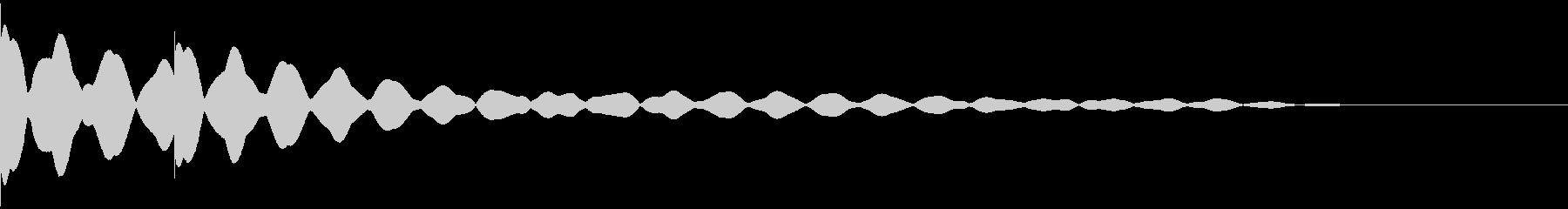 チーンチーン 仏壇の鐘の音1の未再生の波形