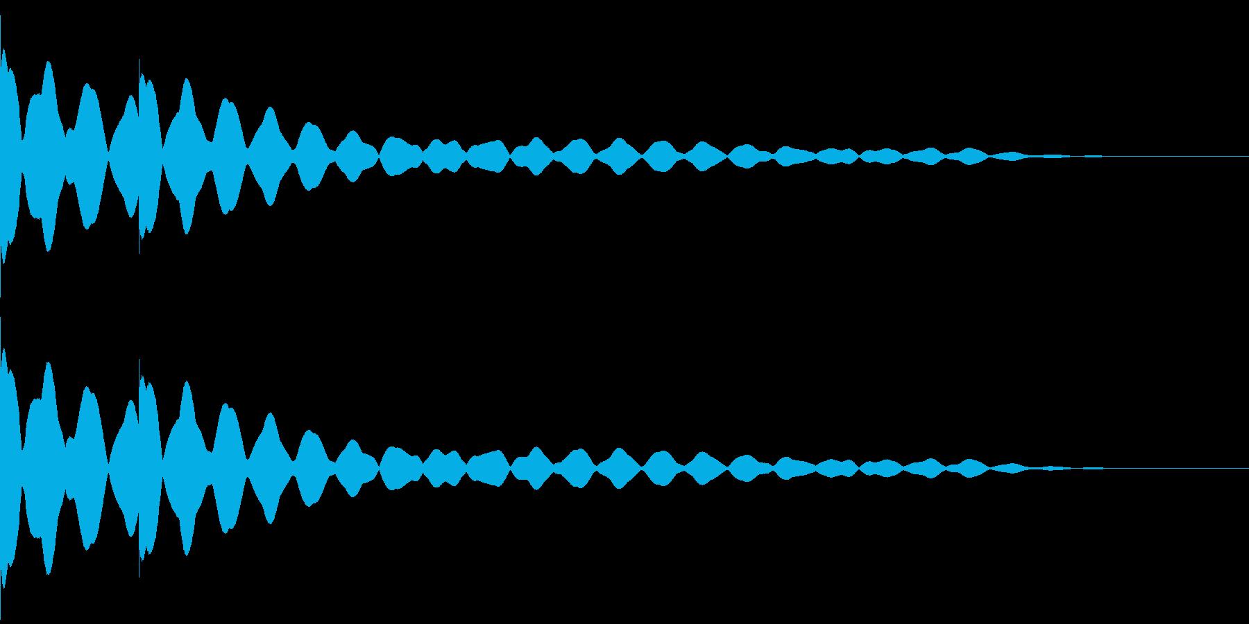 チーンチーン 仏壇の鐘の音1の再生済みの波形