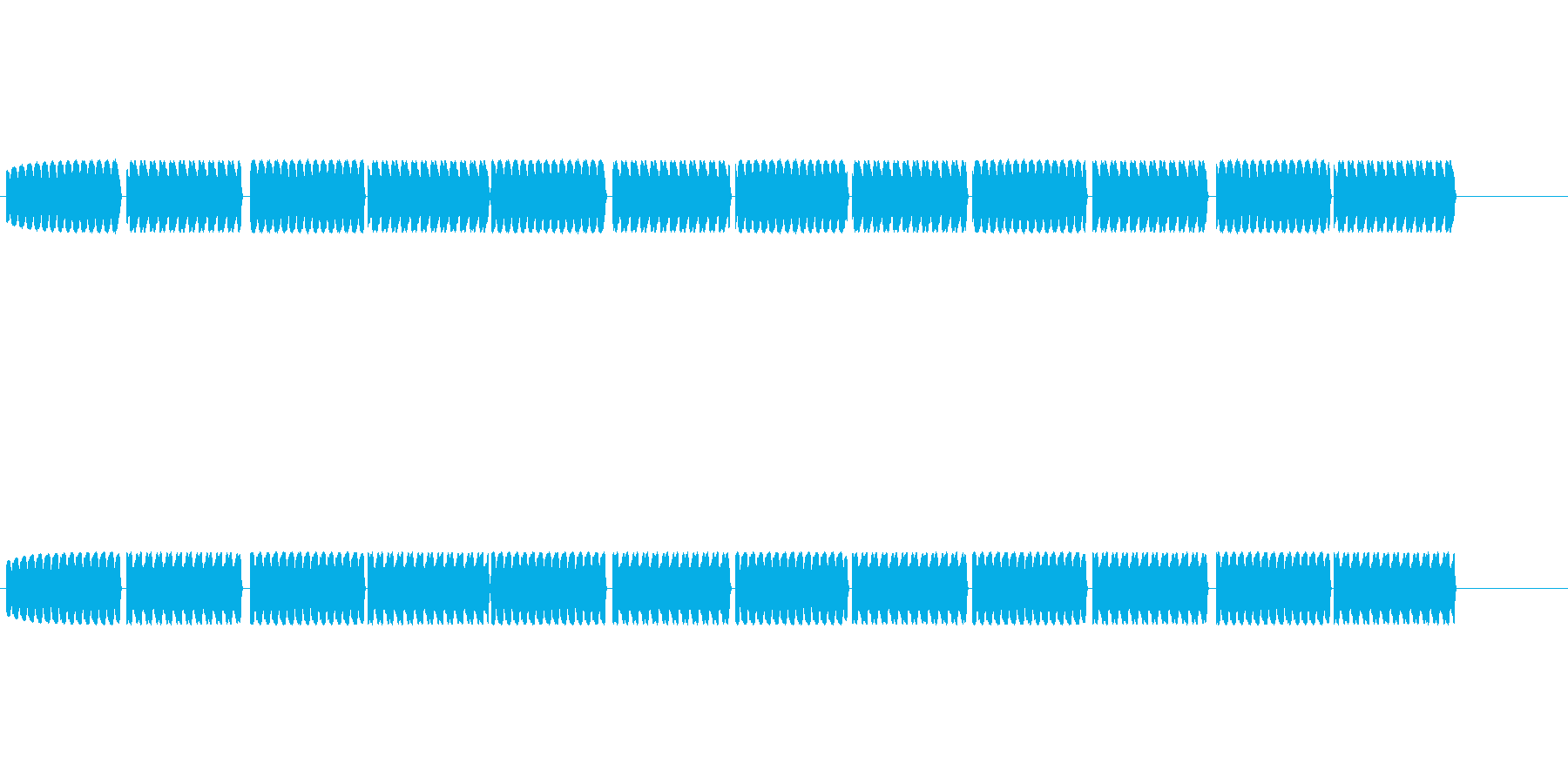 救急車が近づいてくるときのサイレンの音の再生済みの波形