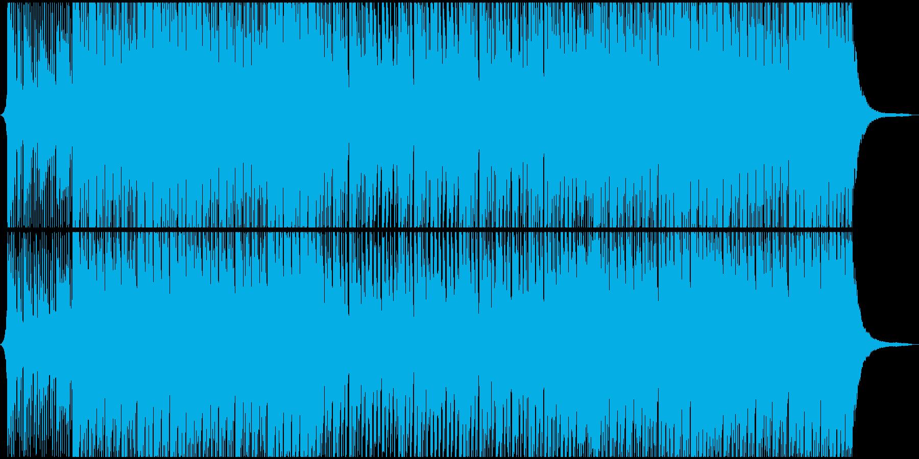 和の雰囲気を取り入れた4つ打ち楽曲の再生済みの波形