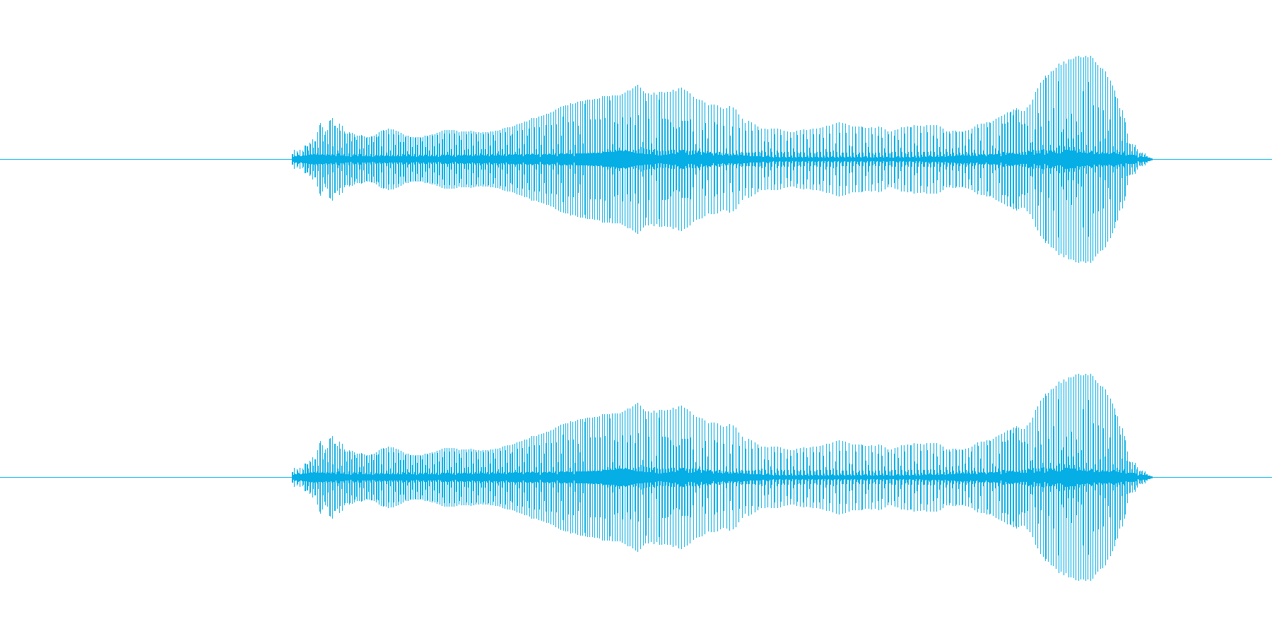 トロンボーンあるあるフレーズBPM180の再生済みの波形