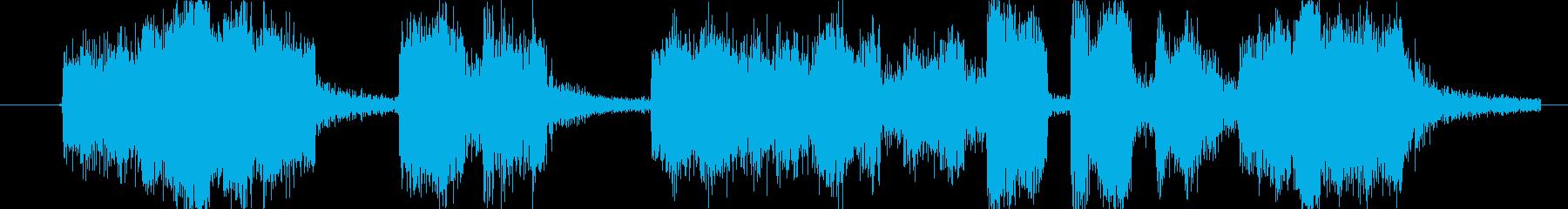 コミカルな場面転換やアイキャッチ向きの再生済みの波形