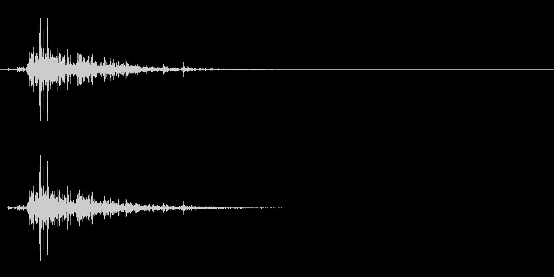 「シャン!」ウッドチャイム単発音リバーブの未再生の波形