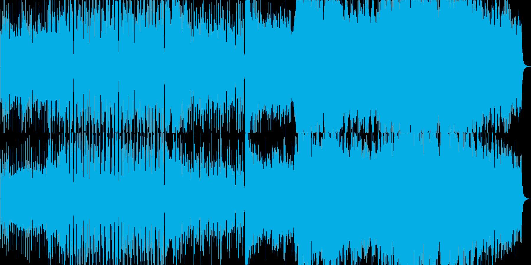 ロシア風の壮大な楽曲の再生済みの波形