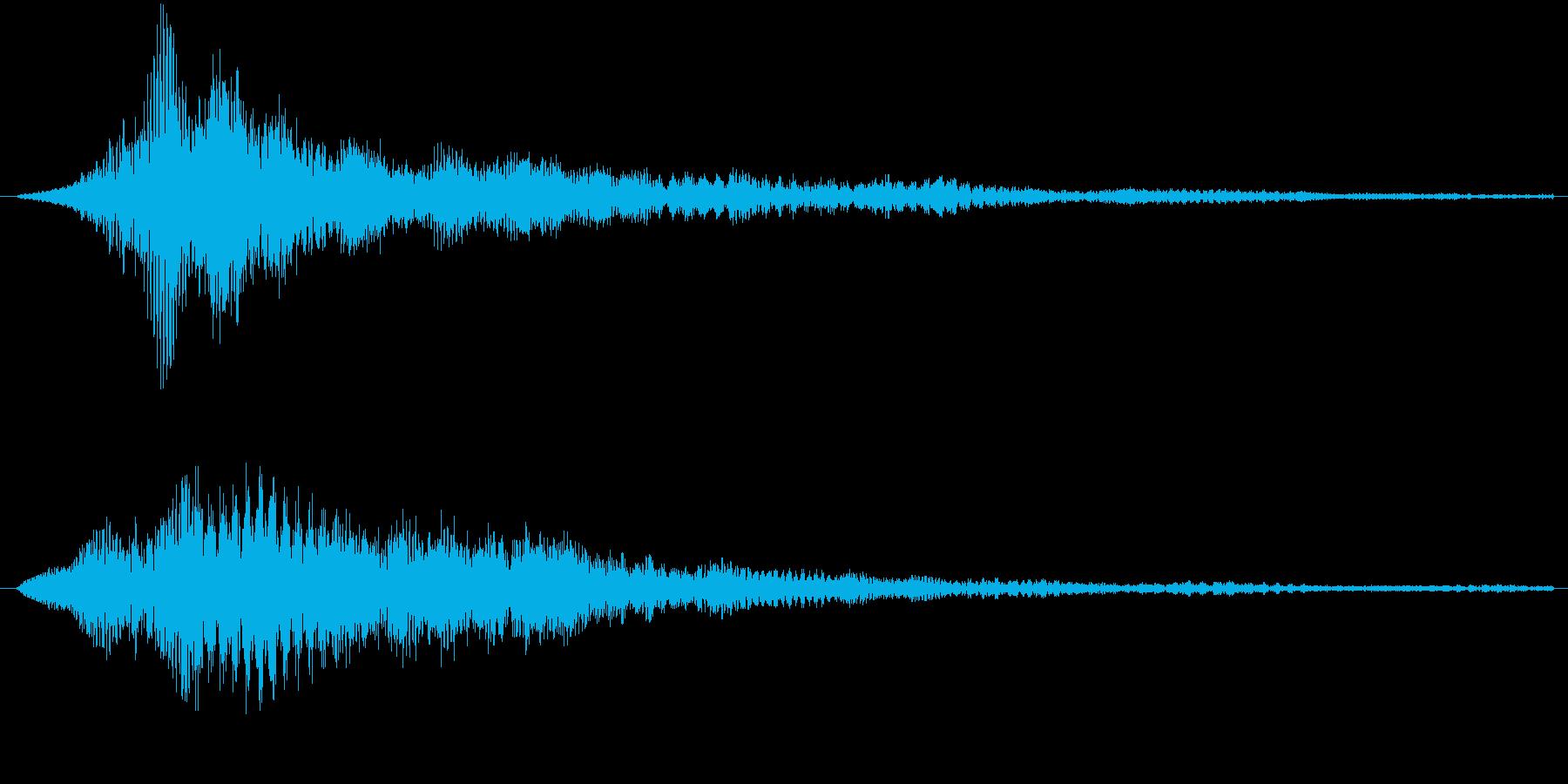 サウンドロゴ4(ワーン)の再生済みの波形