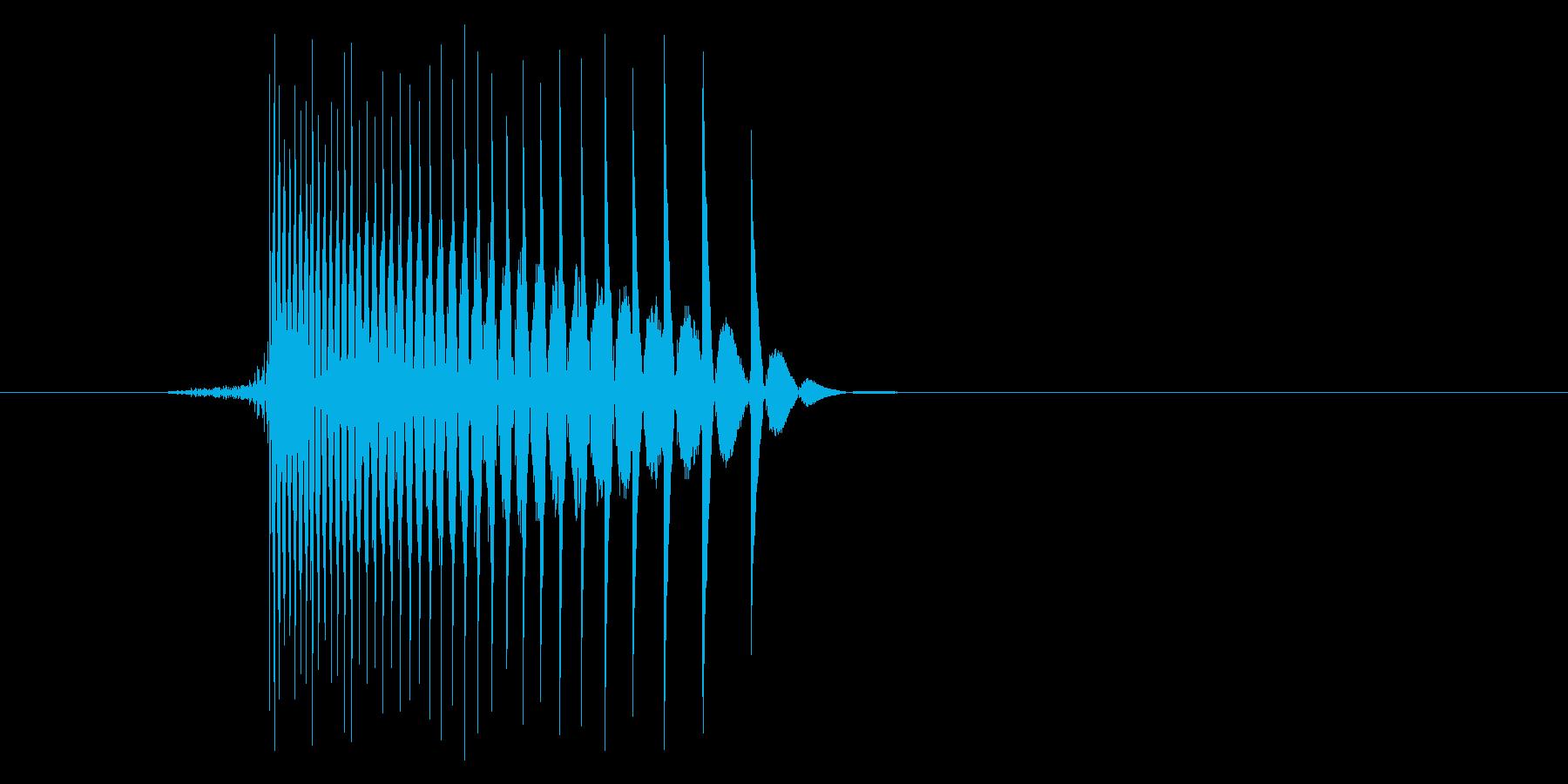 ゲーム(ファミコン風)レーザー音_020の再生済みの波形