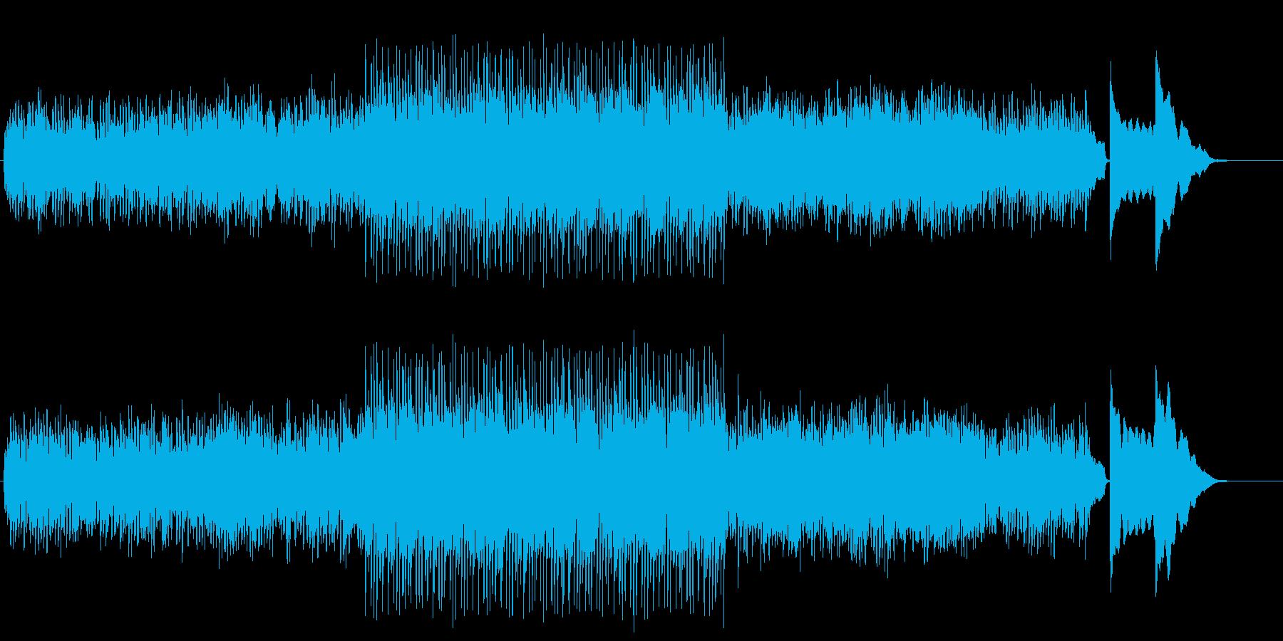 悲劇的な結末のサスペンス風のマイナーBGの再生済みの波形