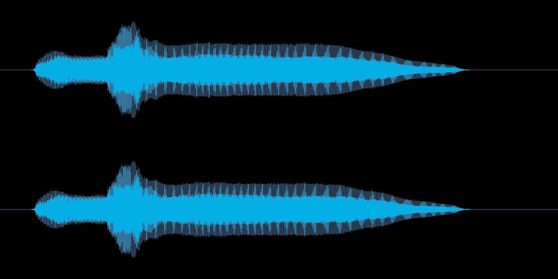 フニョーンの再生済みの波形