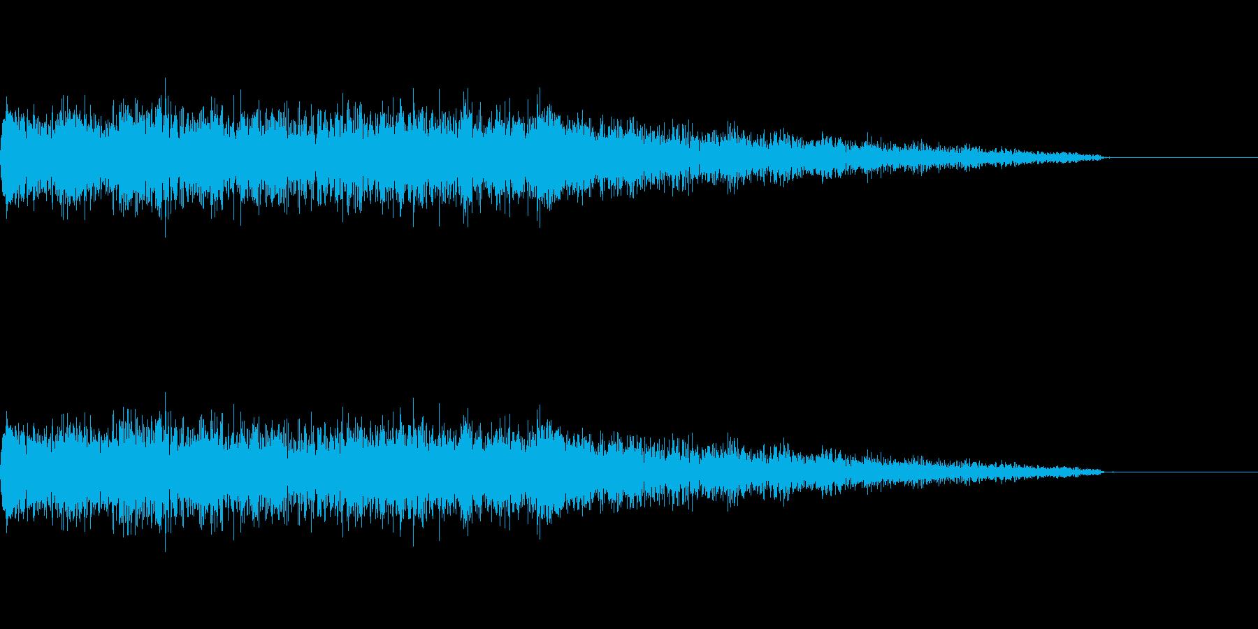 ポップな成功音の再生済みの波形