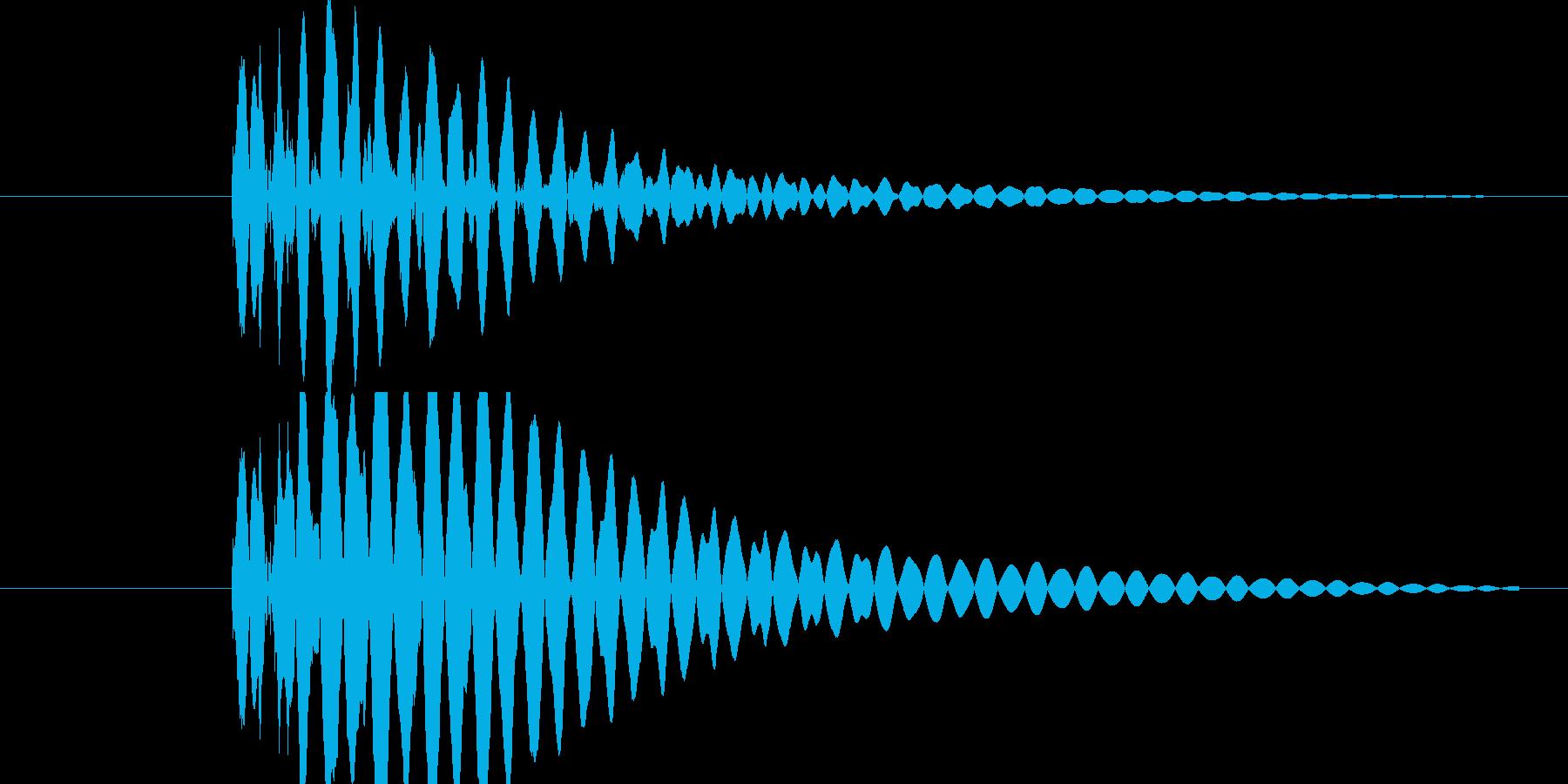 あまり残念感のないキャンセル音、メニュ…の再生済みの波形