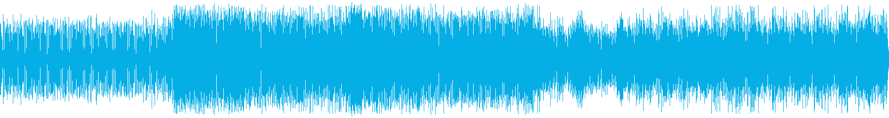 明るく疾走感のあるチップチューンの再生済みの波形