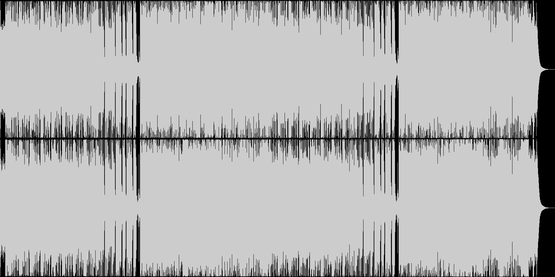 壮大で攻撃的なゲームの戦闘音楽風メタルの未再生の波形
