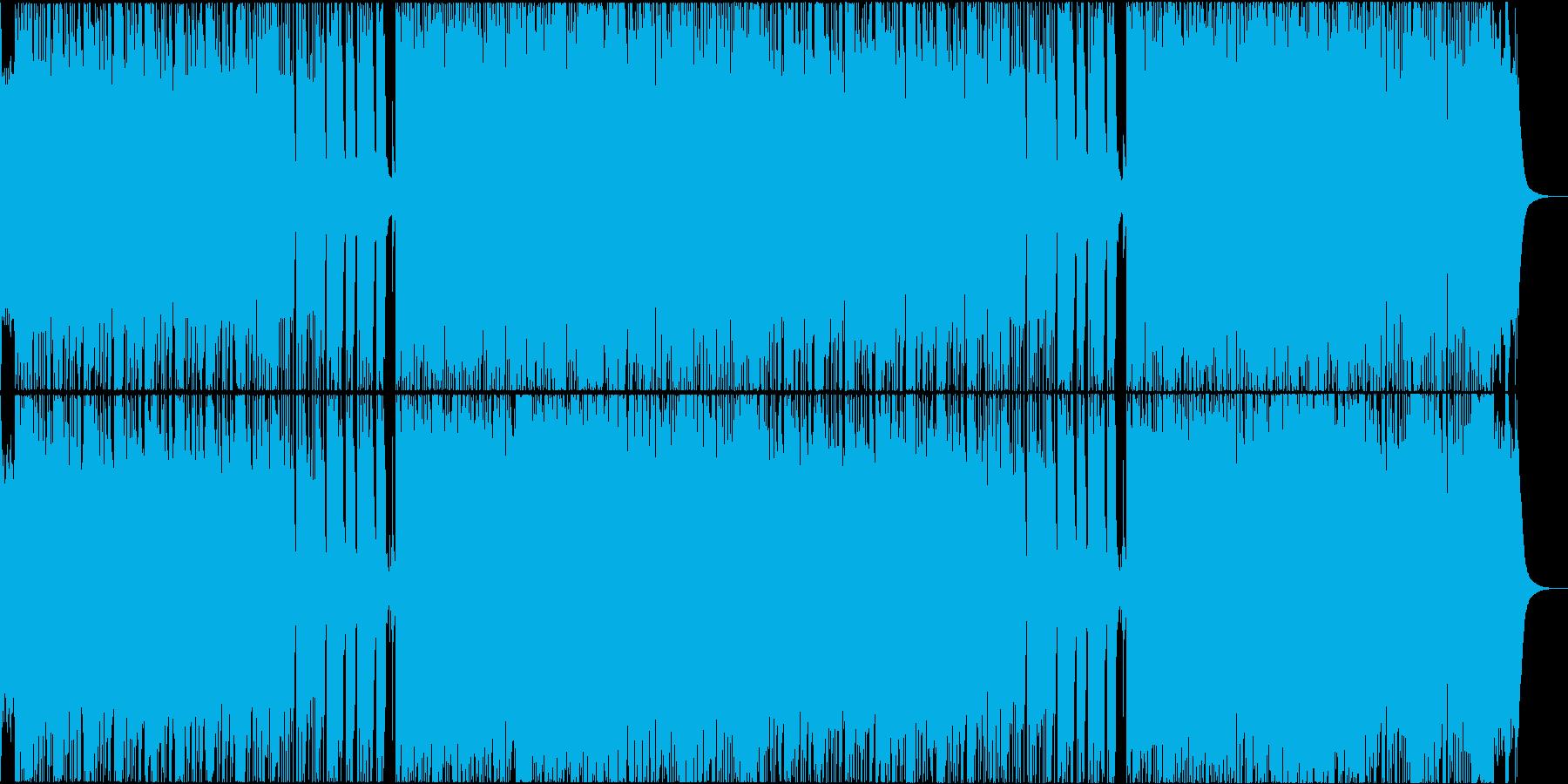 壮大で攻撃的なゲームの戦闘音楽風メタルの再生済みの波形