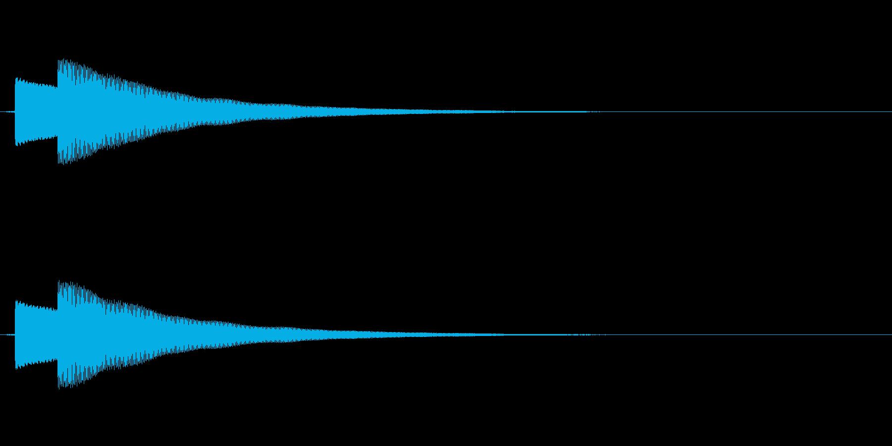 【キラーン2】キラリと一瞬何かが光るの再生済みの波形