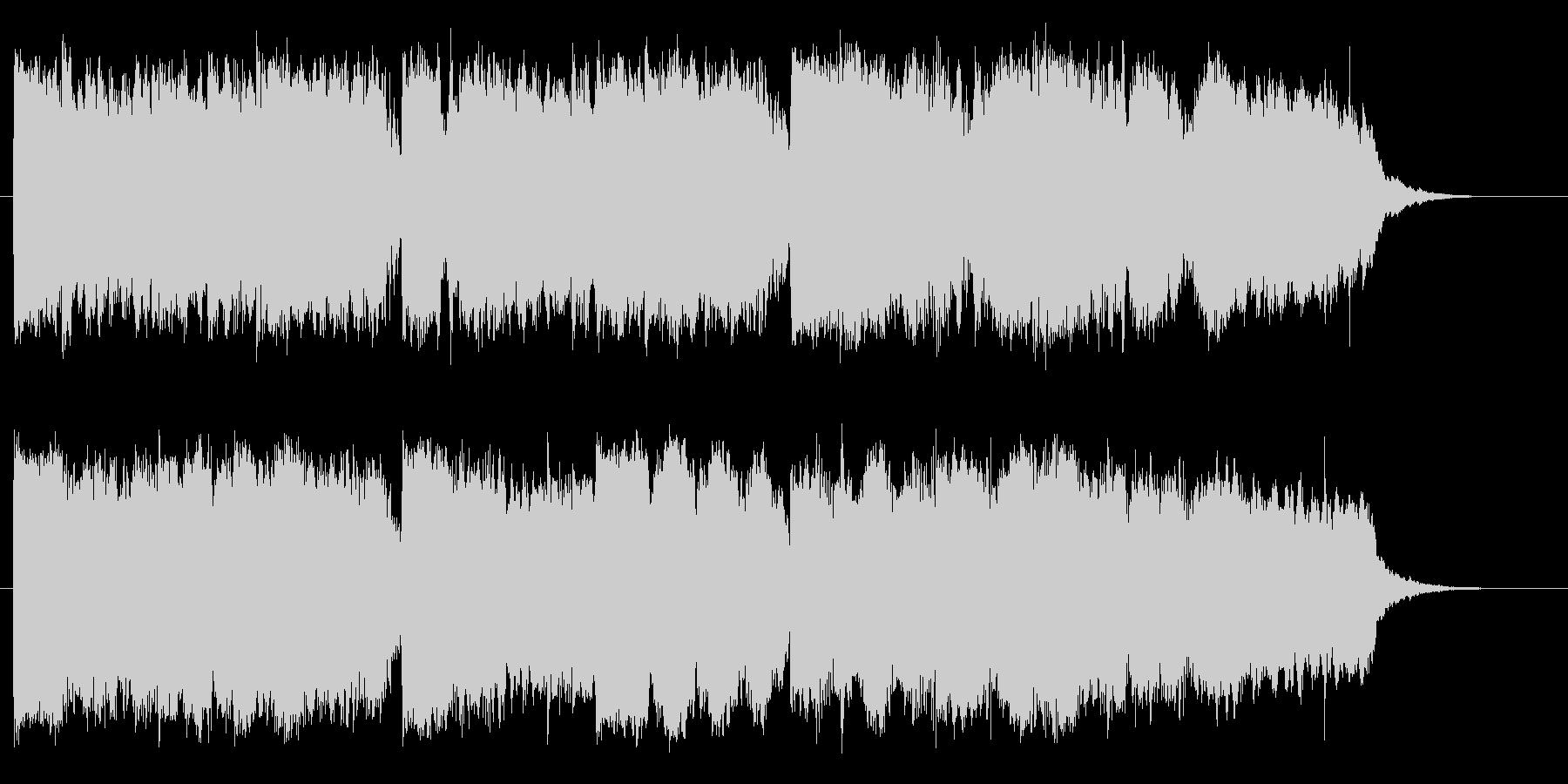 二胡(中国の民族楽器)を使用したジングルの未再生の波形