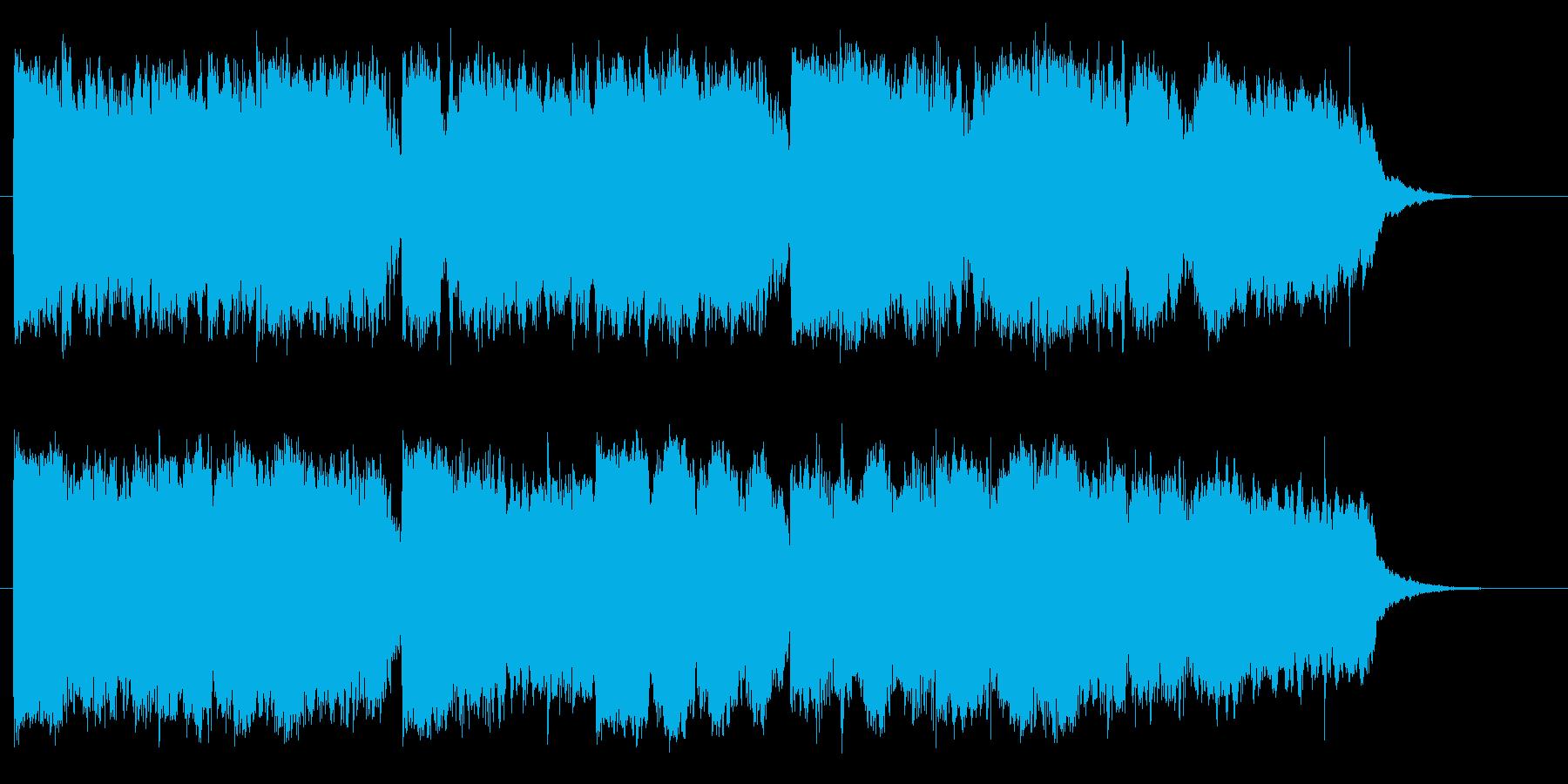 二胡(中国の民族楽器)を使用したジングルの再生済みの波形