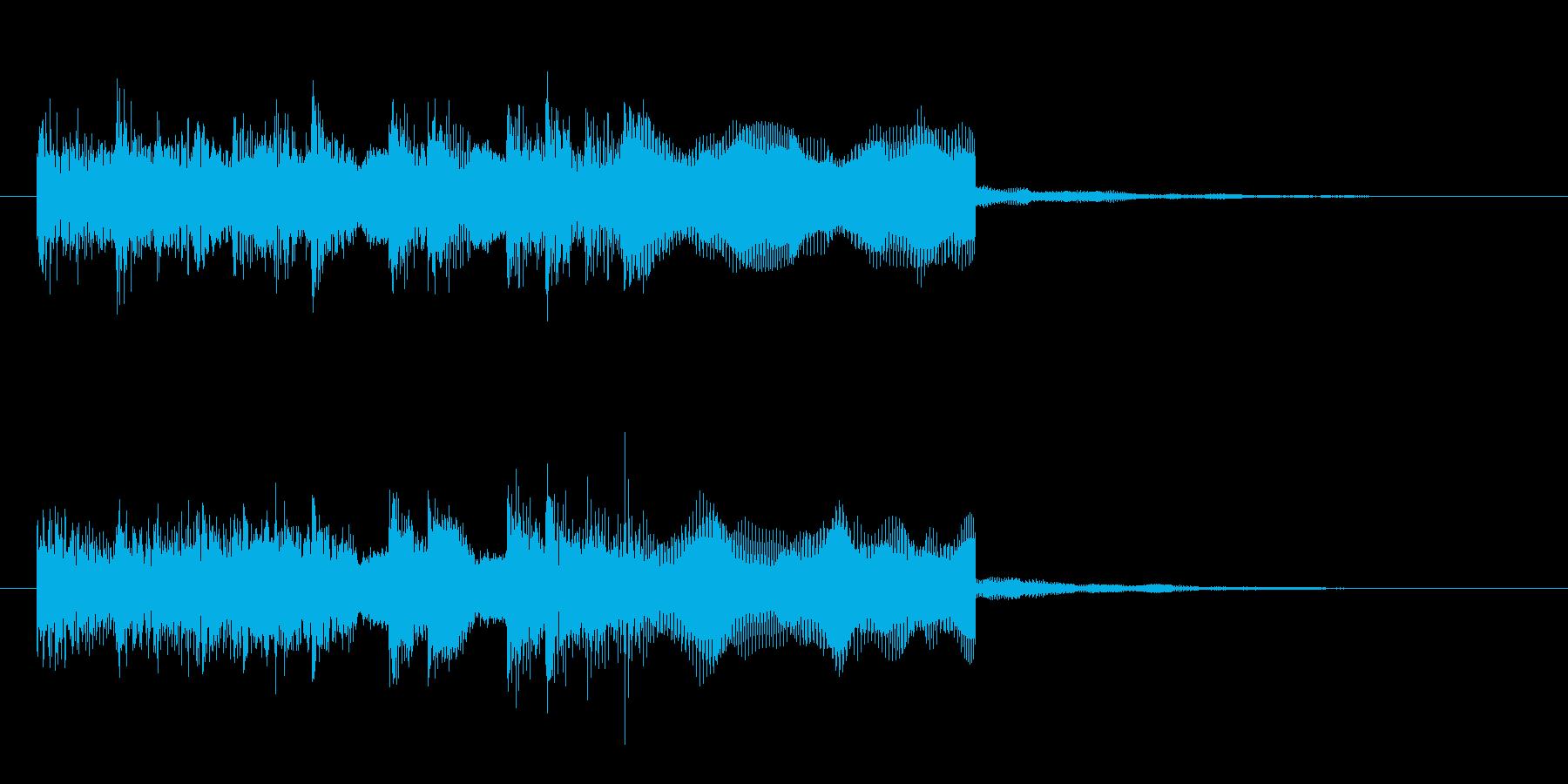 シンセのメタルフレーズなジングル 様式美の再生済みの波形
