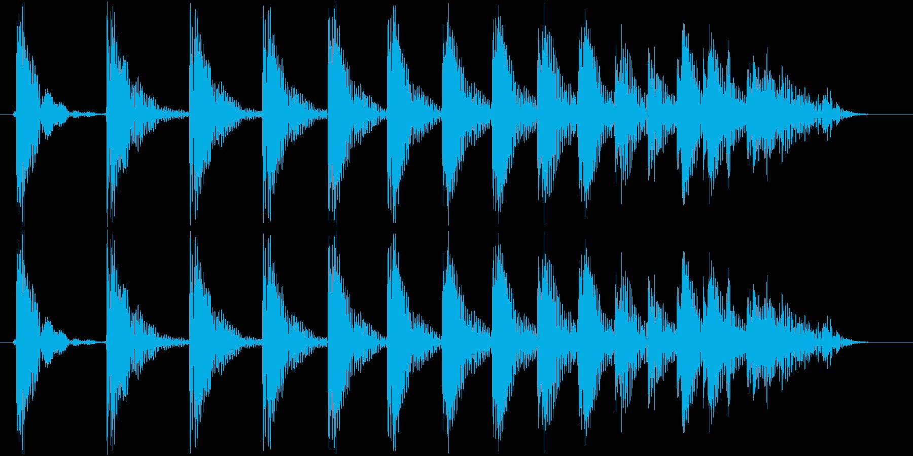 トントントントン・・・の再生済みの波形