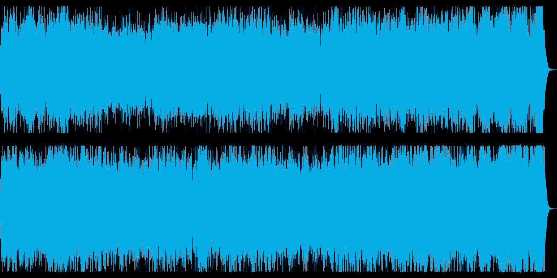 戦地へ向かう勇敢なイメージのオーケストラの再生済みの波形