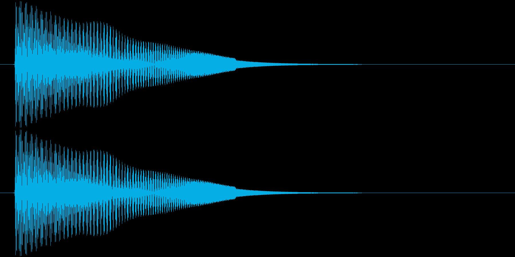 ピョオーン ジャンプなど上昇音の再生済みの波形