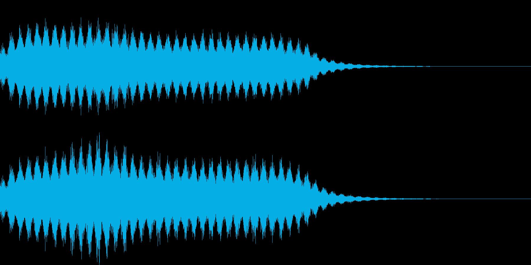 シュワシュワ 泡 爽快 音の再生済みの波形