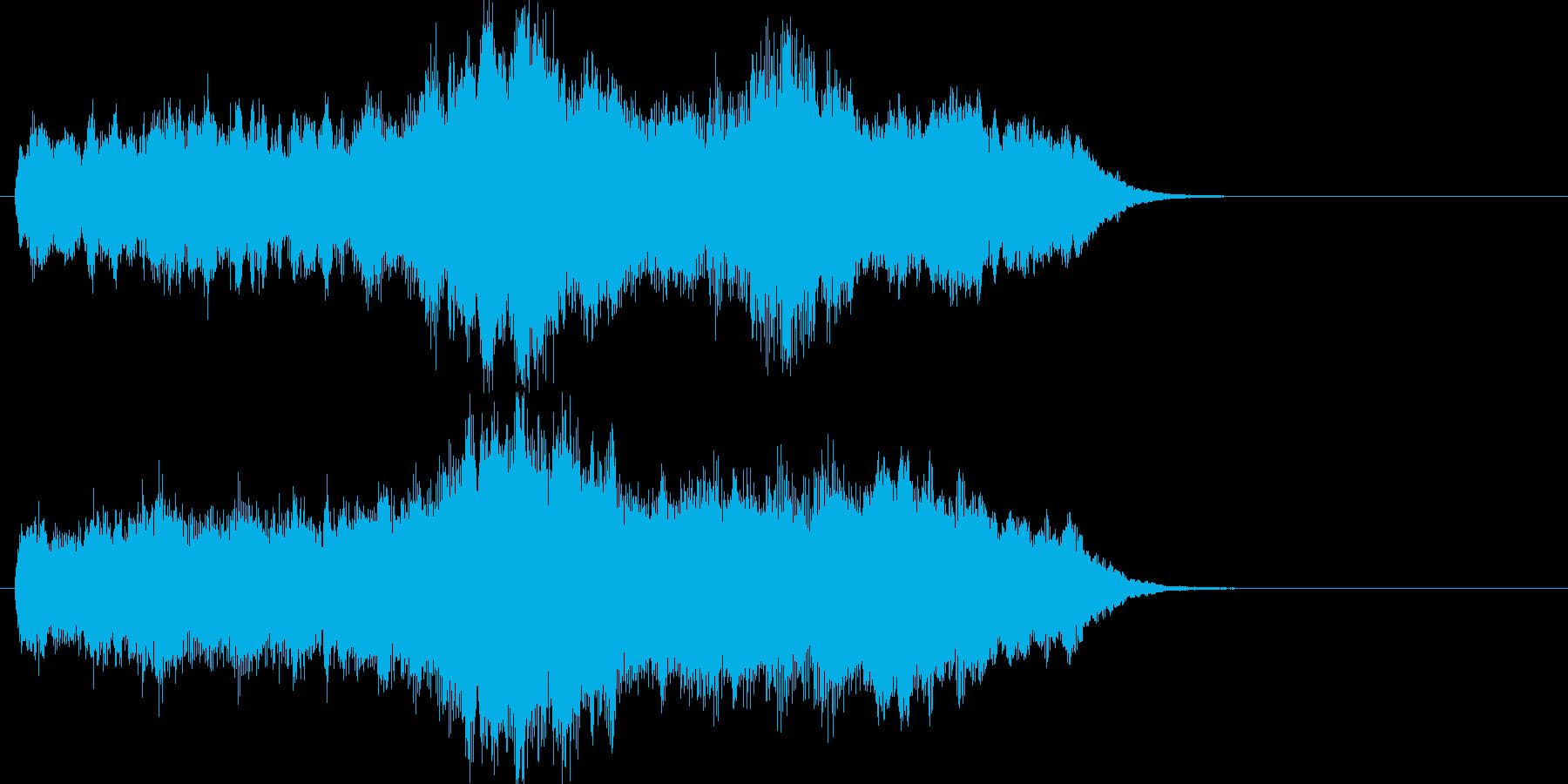 やや哀愁感のあるオーケストラジングルの再生済みの波形