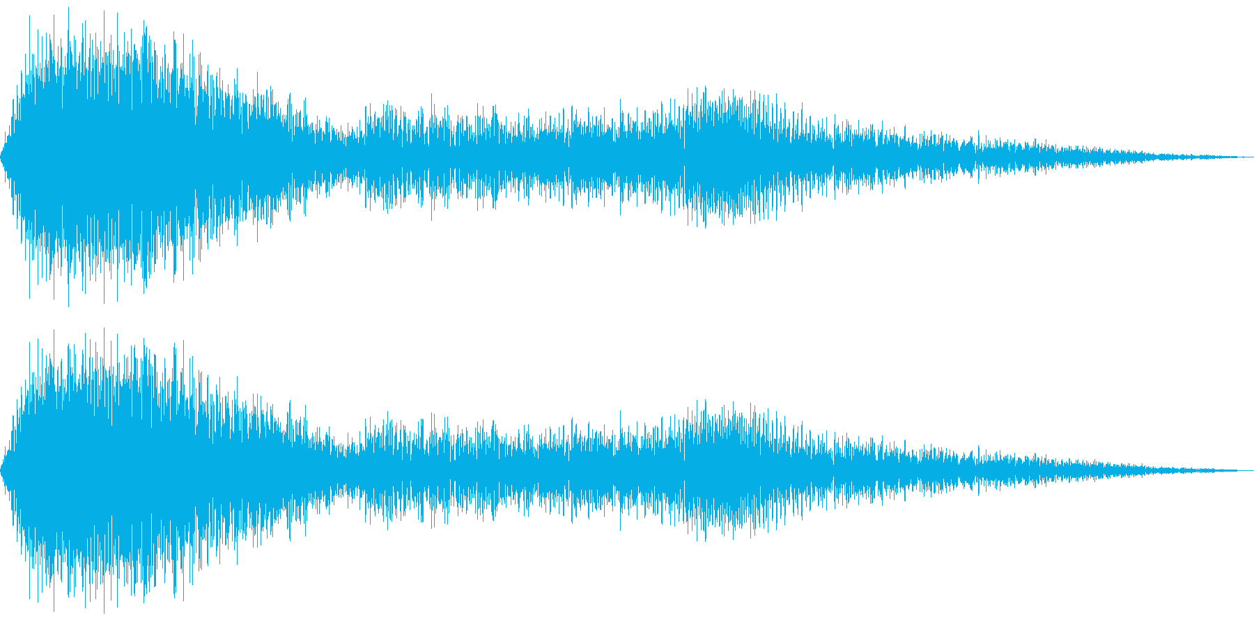 バス発車(車外から録音)の再生済みの波形