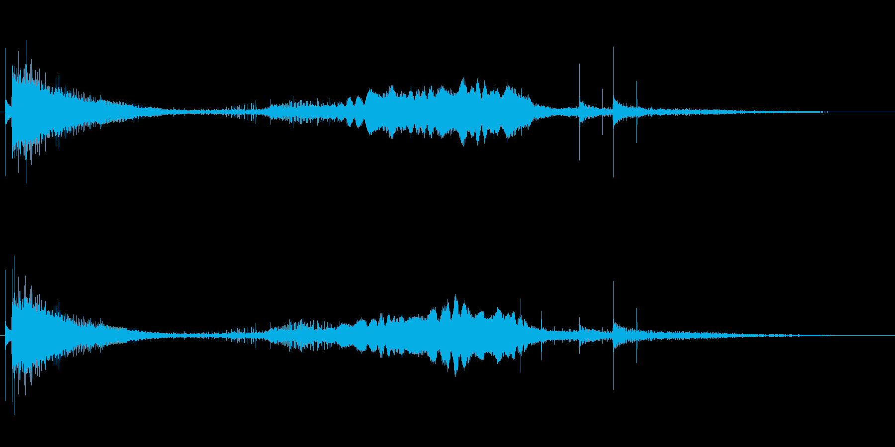 鉄玉が転がるアイキャッチ音の再生済みの波形