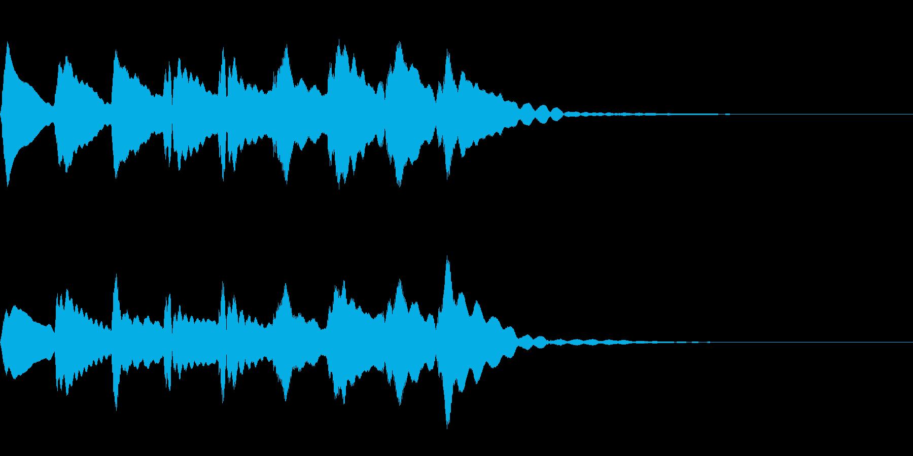 マリンバの下降音の再生済みの波形