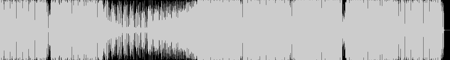 ハード系エレクトロの未再生の波形