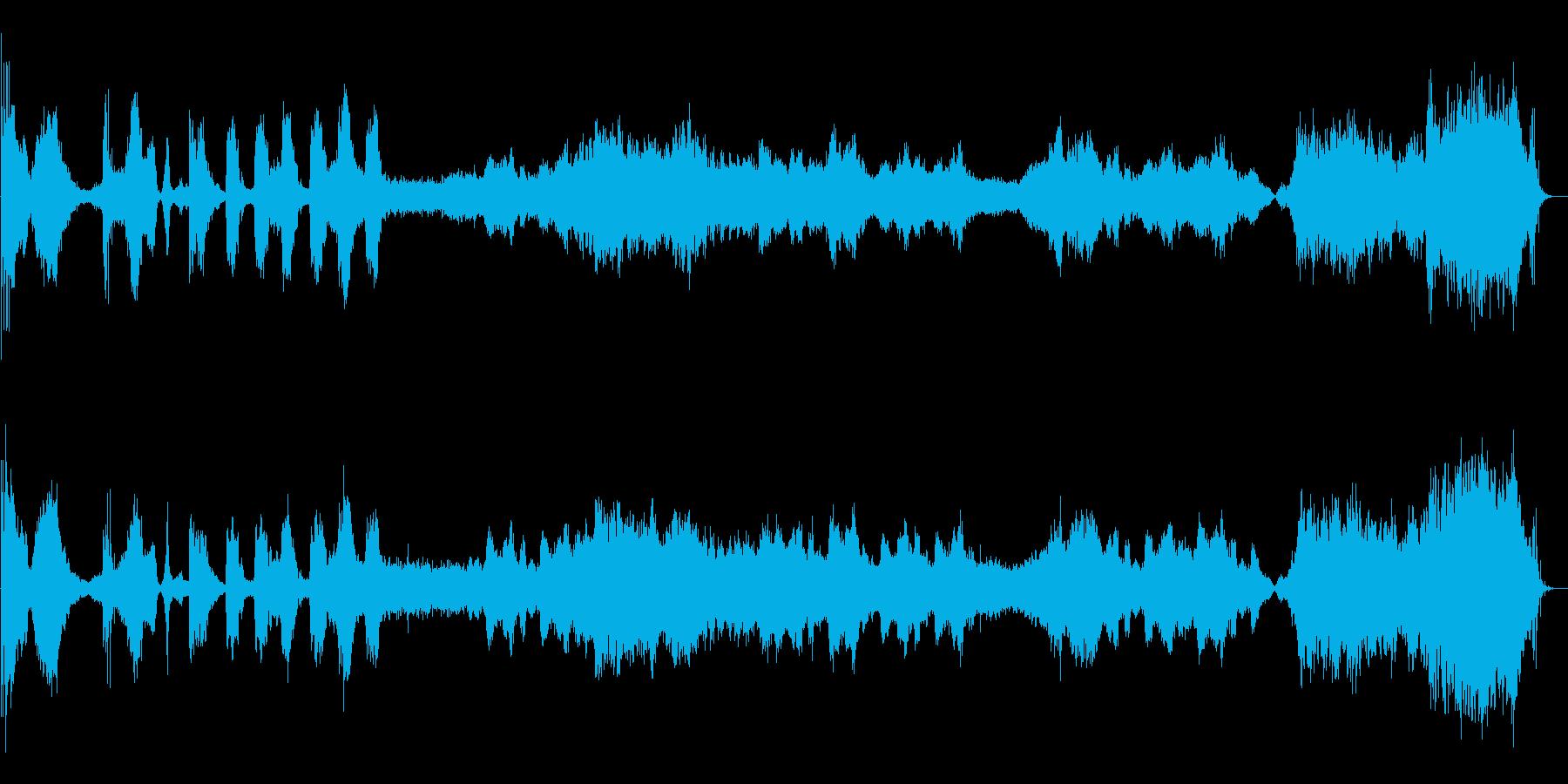 不穏な場面を想定した楽曲ですの再生済みの波形